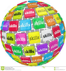 job skills clipart clipart kid skills word on sphere ball required experience job career stock image
