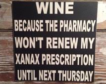 Popular items for funny wine signs on Etsy via Relatably.com