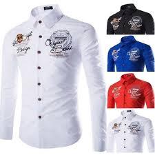 <b>ZOGAA</b> Geek Features Shirts <b>Men</b> Casual <b>Jeans</b> Shirt Print New ...