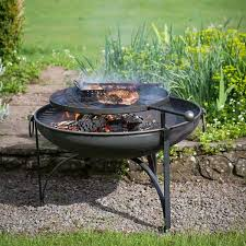 Plain <b>Jane Fire</b> Pit With Removeable Swing Arm BBQ Rack