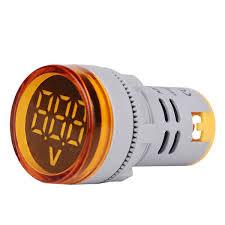 <b>3pcs</b> Yellow <b>ST16VD 22mm</b> Hole Size 6-100 VDC Digital Voltmeter ...