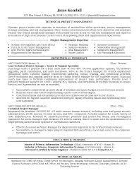 project management skills resume samples  template project management skills resume samples