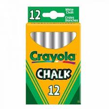<b>Мелки Crayola</b> неосыпающиеся 12 шт <b>белые</b>