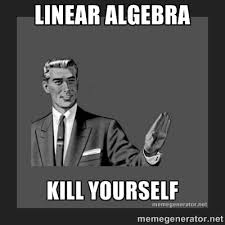 Linear algebra - kill yourself guy | Meme Generator via Relatably.com