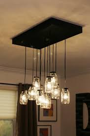 mason jar chandelier diy bell jar lighting fixtures