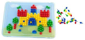 Купить <b>Miniland Мозаика Pegs</b> 10 мм, 240 элементов (31804) по ...