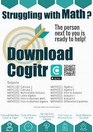 cogitr cogitr recently introduced math tutoring covering the most basic calculus i to the challenging analysis algebra and differential equations courses