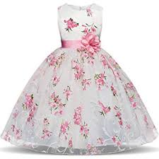 Summer Flower Girl Dresses New Floral Children Ball ... - Amazon.com