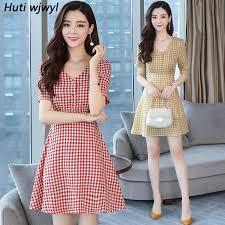 <b>Summer New</b> Plus Size Vintage Mini Beach Dresses 2019 Korean ...