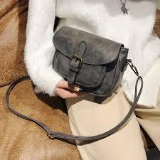 Vintage <b>Small</b> Square <b>Handbag Women Ladies PU</b> Leather ...