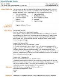 Nurse CV Example - Learnist.org