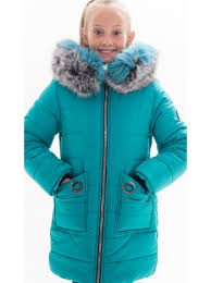Купить оптом зимнюю <b>куртку Юнона</b> для девочки в бирюзовом ...