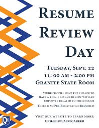 resume review day university advising and career center career internship fair home · for employers · for students · resume review day