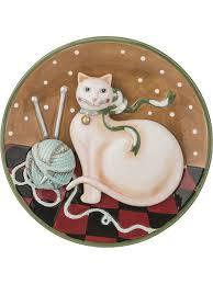 """Панно-<b>тарелка</b> """"Кошка-рукодельница"""" <b>21см Lefard</b> 5203315 в ..."""