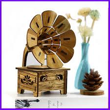 <b>Gramophone Musical Boxes</b> Retro DIY Wood <b>Music Box</b> Craft Gif ...