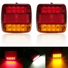 <b>2pcs</b> new 12V <b>LED</b> Car Trailer Truck <b>Taillight Brake</b> Stop Turn ...