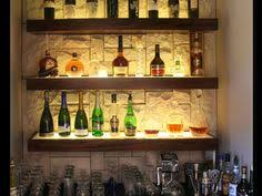 floating shelf concept for bar lighting perfect for displaying bottles and making them visible to customers bar lighting ideas