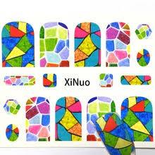 Дизайн ногтей тисненые <b>наклейки для ногтей</b> Цветок Клей DIY ...