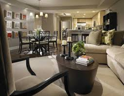 Open Kitchen And Dining Room Designs Dining Room Design Concept Open Concept Neutral Living Room