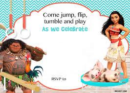 moana birthday invitation template drevio invitations design printable moana birthday invitation
