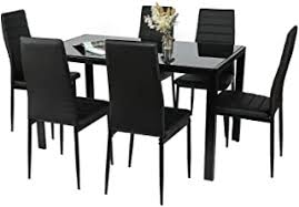 7 Pieces - Table & Chair Sets / Kitchen & Dining ... - Amazon.com