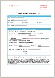 card authorization form template credit card authorization form template