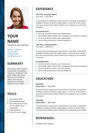 dalston free resume template microsoft word blue layout free resume template for microsoft word