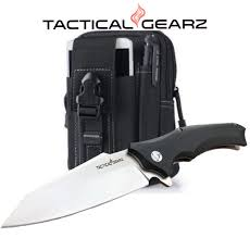 TACTICAL GEARZ TG Vex, EDC G10 <b>Folding Knife</b> w/Sheath! Ball ...