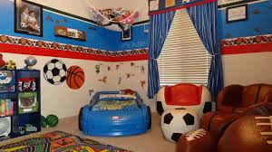 interior ideas marvelous wall paper for kids room by blue red also balls paint on the blue themed boy kids bedroom
