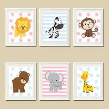 Jungle <b>Nursery Wall</b> Art Prints Or <b>Canvas</b> Twins <b>Nursery</b> Decor ...