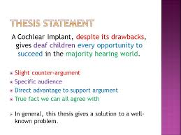 thesis statement argument vs counterargument linguistic devices