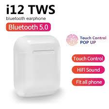 i12 <b>TWS</b> NEW wireless headset touch key <b>Bluetooth 5.0</b> sports ...