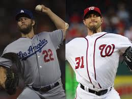 Image result for max scherzer vs. clayton kershaw
