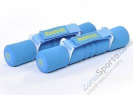 <b>Гантель</b> с мягкими накладками <b>2.0</b> кг голубая (пара) RAWT ...