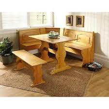 kitchen nook solid wood corner dining breakfast set table bench chair booth pine breakfast nook furniture set