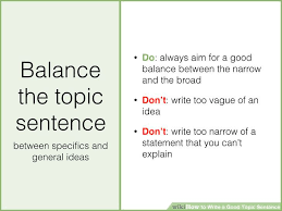 how to write a good topic sentence with sample topic sentences image titled write a good topic sentence step jpeg