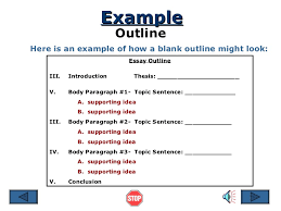 example outline examples of outlining an essay