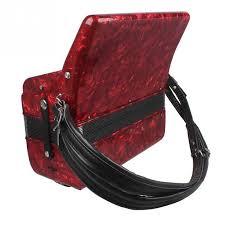1 Pair <b>Adjustable PU Leather</b> Accordion Straps Comfortable ...