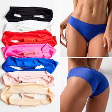 <b>WENYUJH</b> Women Underwear Sexy Ice Silk Seamless Lingerie ...