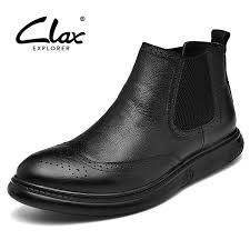 <b>CLAX</b> Chelsea <b>Boots Men</b> 2018 Spring Autumn Genuine Leather ...