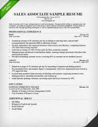 Retail Sales Associate Resume Sample  amp  Writing Guide   RG Resume Genius sales associate resume sample