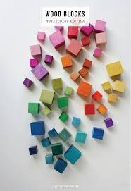 DIY watercolor <b>wood blocks</b> | <b>Деревянные</b> кубики, <b>Деревянные</b> ...