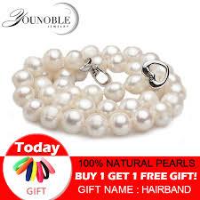 <b>Real Freshwater pearl necklaces</b> women wedding,white choker ...