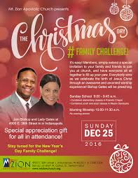 christmas day family challenge mt zion apostolic church christmas flyer 2016