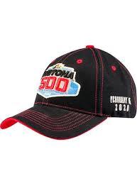 2020 Daytona 500 <b>Black</b> Contrast <b>Stitch</b> Hat – Pit Shop Official <b>Gear</b>