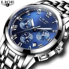 <b>2019</b> New <b>Watches Men</b> Luxury Brand LIGE Chronograph <b>Men</b> ...