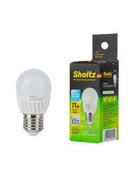 <b>Лампа светодиодная SHOLTZ</b> керамика <b>шар</b> 11Вт E27 4000K ...