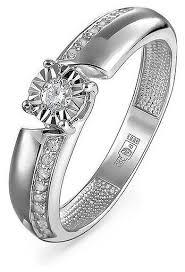 Купить KABAROVSKY <b>Кольцо с 19 бриллиантами</b> из белого ...