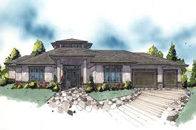 Popular House Plans   Home Design M  Extreme     middot  This is a color rendering of these Prairie House Plans