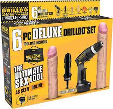 <b>Drilldo Deluxe Секс набор</b> с двумя членами, 7 предметов, цвет ...